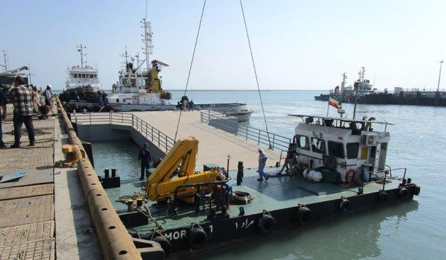افتتاح اسکله شناور چند منظوره وشناورتجسس ونجات دریایی درجاسک