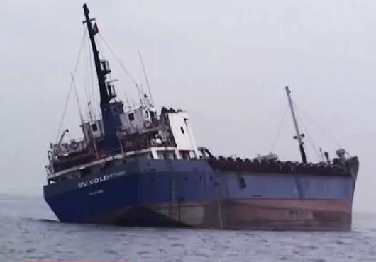 یک كشتی باری در آبهای چین غرق شد