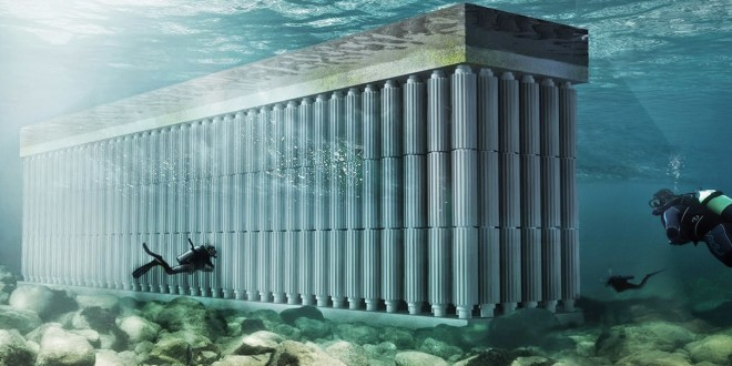 ذخیره انرژی آب دریا با دیوار شناور