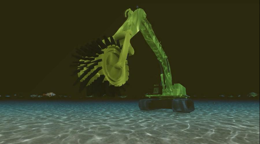 طرح ابداعي رييس منطقه قشم براي ساخت دستگاه  Sea Trencher