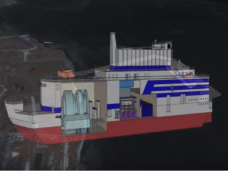 احداث نیروگاه اتمی شناور در چین