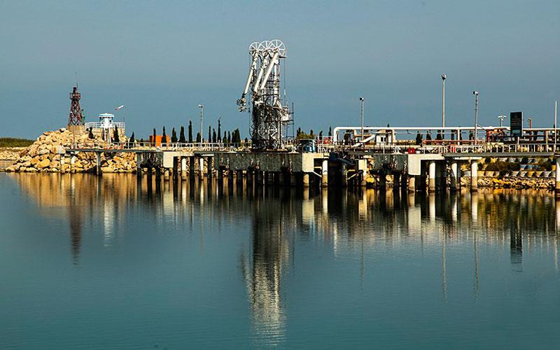 پایانه مدرن نفتی دریای خزر
