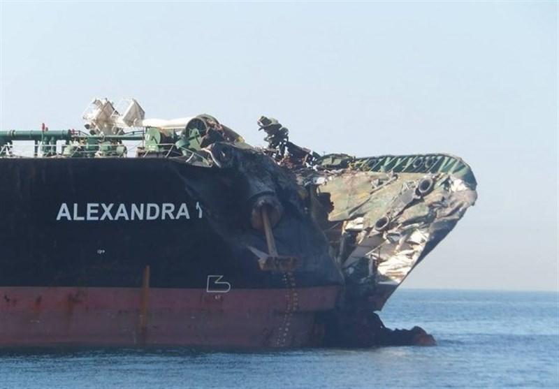 آخرین وضع حادثه برخورد نفتکش ایرانی با الکساندرا