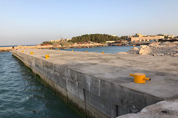 موج شکن جزیره خارگ با ۱۰ میلیارد ریال سرمایهگذاری احداث شد