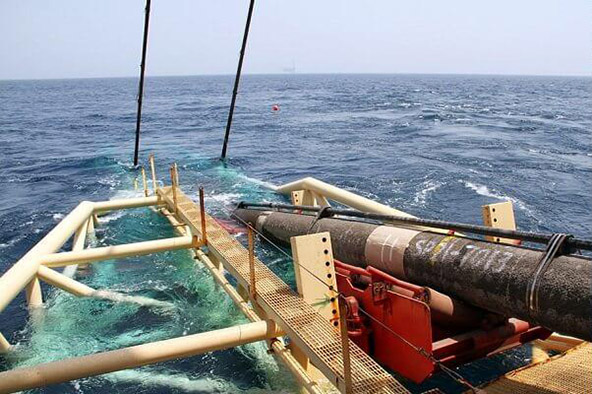 خط لوله دریایی انتقال گاز فاز ۱۳ شکست
