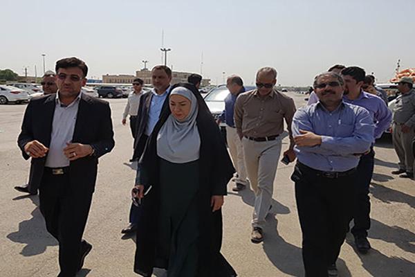 بازدید معاون محیط زیست دریایی سازمان محیط زیست از بندر خرمشهر