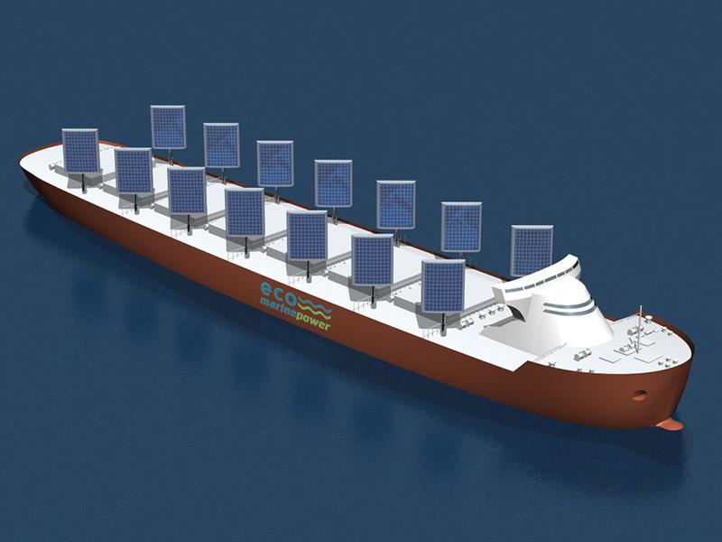 کشتی با بادبانهای خورشیدی ساخته شد