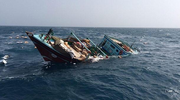 لنج باری در مسیر دبی - بوشهر غرق شد/ ۵ سرنشین نجات یافتند