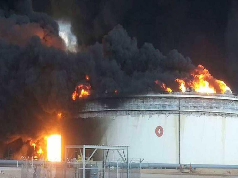 آتش سوزی، ذخیره نفت لیبی را کاهش داد