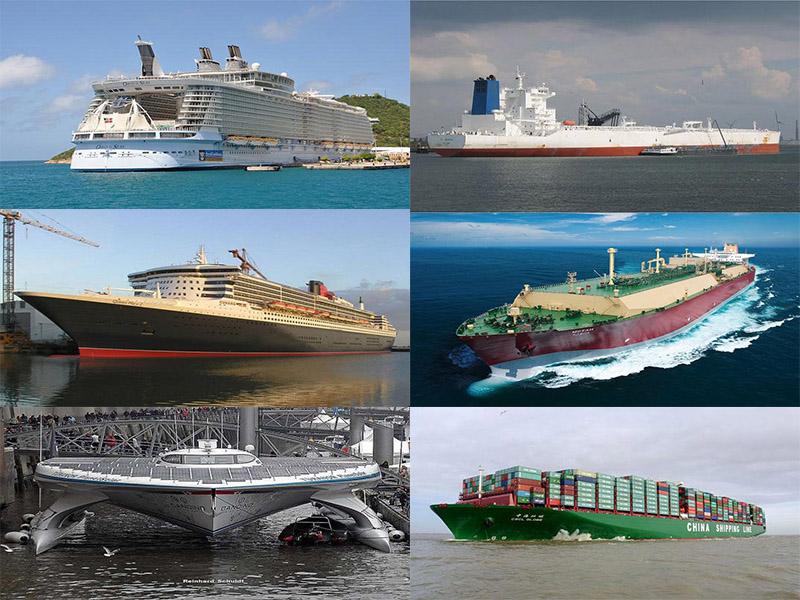 بزرگ ترین کشتیهای جهان را بشناسید