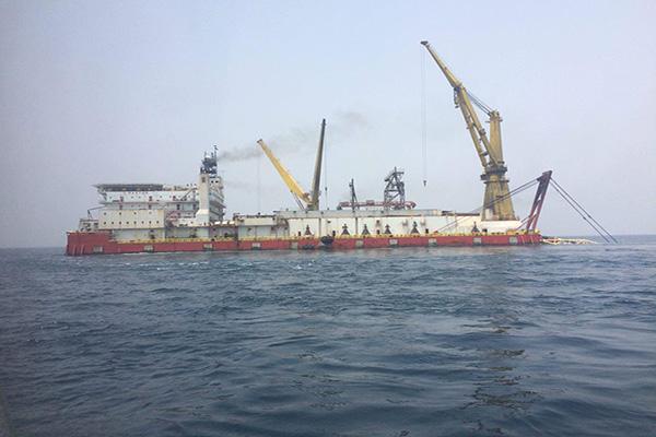 پایان عملیات لولهگذاری دریایی خط دوم فاز ۱۳ پارس جنوبی