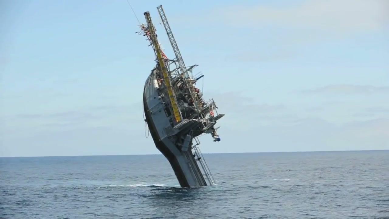 عمودسازی یک سازه تحقیقاتی در دریا