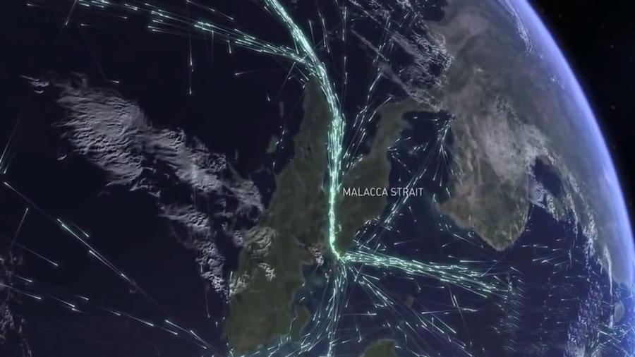 ترافیک جهانی کشتی ها  از فضا دیده می شود